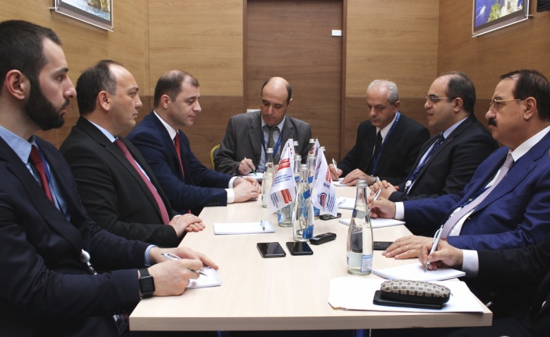 A meeting of the delegations of Abkhazia and Syria held at the international economic forum