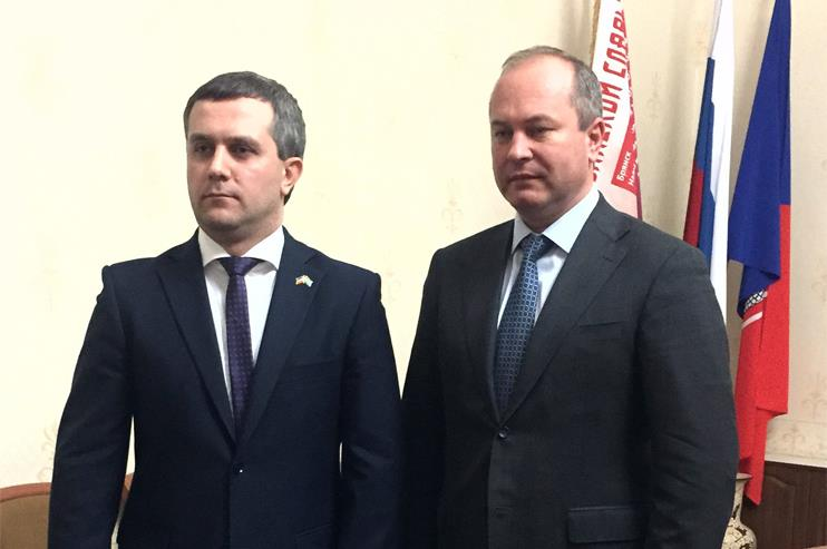 The meeting of Adika Arshba, the Honorary Consul of the Republic of Abkhazia with the Mayor of Rostov in the Rostov region