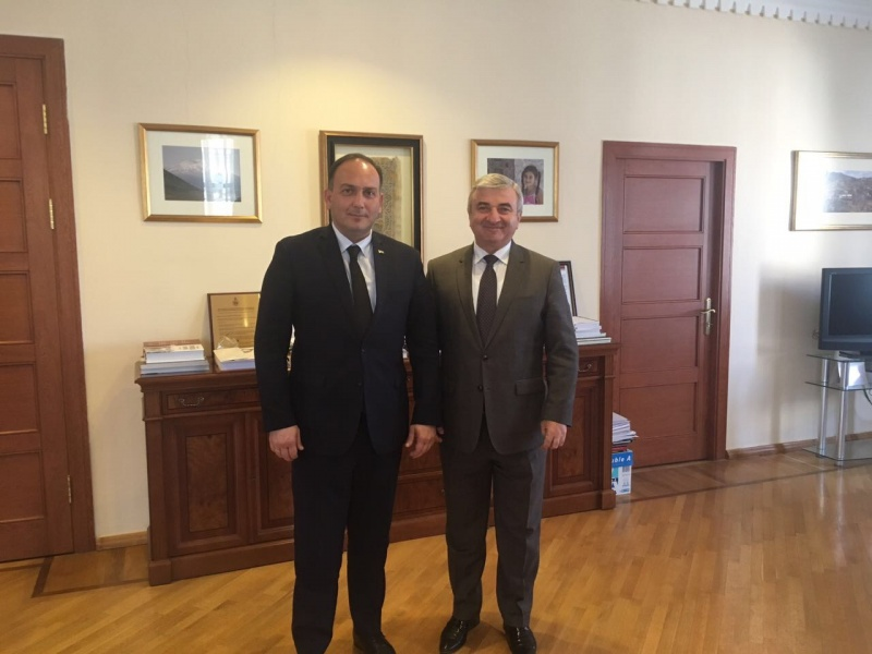 Daur Kove met with Ashot Gulyan, the Chairman of the National Assembly of the Republic of Artsakh