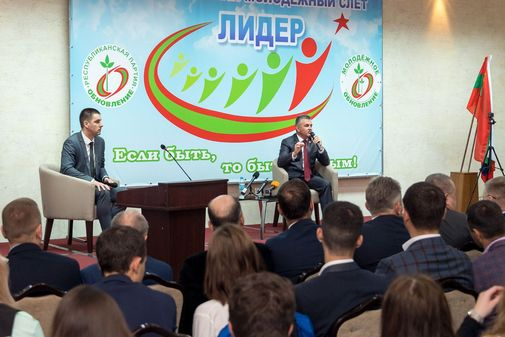 "Alexander Vataman took part in the opening of the International Youth Rally ""Leader"""