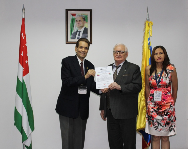 "The International award ""FELICORPSDIPLOMATIC"" was presented to Zaur Gvadzhava"