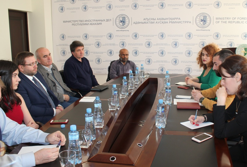 On the meeting with representatives of the international non-governmental organizations