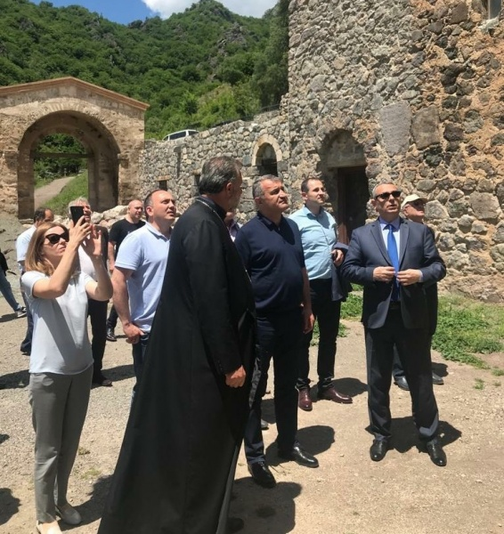 The Delegation of the Republic of Abkhazia arrived in the Artsakh Republic
