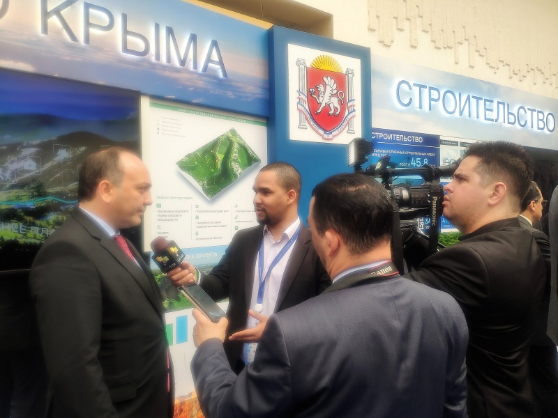 Daur Kove, the Minister of Foreign Affairs of Abkhazia participates in the V-th anniversary international economic forum