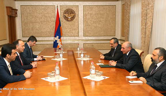 Abkhaz Foreign Minister Visits Artsakh, Meets Officials
