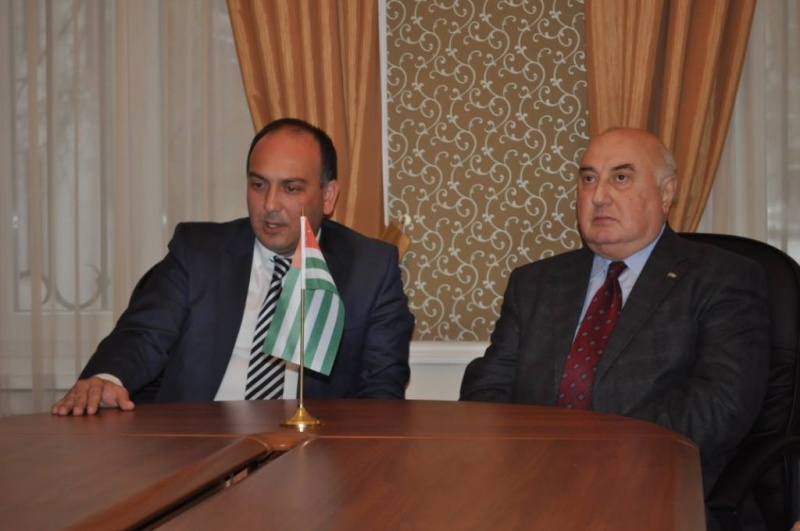 Daur Kove held a meeting with the Ambassador of the Republic of Abkhazia to the Russian Federation Igor Akhba