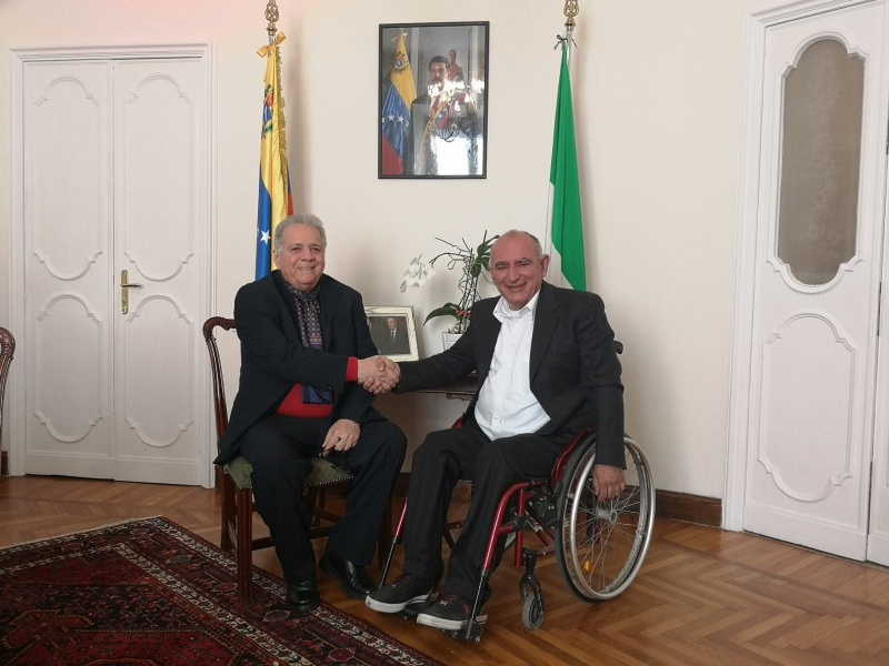 Vito Grittani had the meeting with Juan Rodriguez Díaz, the Venezuelan Ambassador to Italy